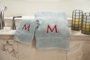 monogrammed towels singer futura support